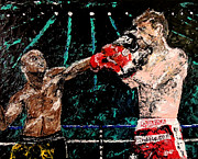 Pallet Knife Photo Prints - Undefeated - Floyd Mayweather Jr  Print by Mark Moore