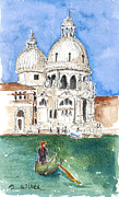 Bright Appearance Painting Prints - Undeniably Venice Print by Barbara Wirth