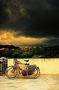 Silvia Ganora Metal Prints - Under an ominous sky Metal Print by Silvia Ganora