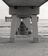 Fort Myers Beach Prints - Under the boardwalk Print by Edward Fielding