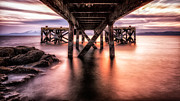 Wonderful Framed Prints - Under the boardwalk Framed Print by John Farnan