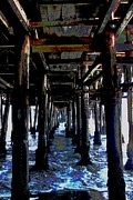 Santa Monica Digital Art Metal Prints - Under the Boardwalk Metal Print by Kimberly Mack