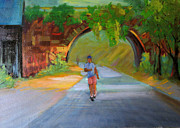 Ali Painting Originals - Under The Bridge by Ali Amini