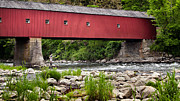 Covered Bridges Photos - Under the Bridge by Bill  Wakeley