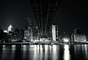 Skylines Metal Prints - Under the Bridge - New York City Skyline and 59th Street Bridge Metal Print by Vivienne Gucwa