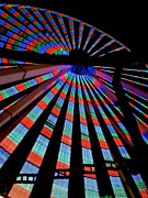 Amusements Photos - Under the Giant Wheel by Mark Miller
