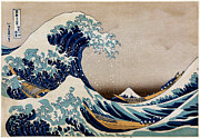 Surf Culture Posters - Under the Great Wave Off Kanagawa Poster by Nomad Art And  Design