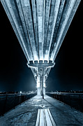 Florida Bridge Digital Art - Under The Jensen Beach Causeway by Dan Vidal