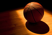 Basketball Metal Prints - Under the Lights Metal Print by Andrew Soundarajan