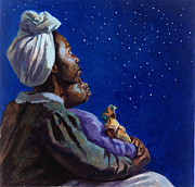 African Child Prints - Under the Midnight Blues Print by Colin Bootman