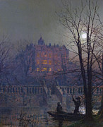 Grimshaw Framed Prints - Under the Moonbeams Framed Print by Stefan Kuhn