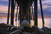 Under The Oceanside Pier Print by Larry Marshall