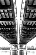 Creve Coeur Park Digital Art Metal Prints - Under The Page Bridge Metal Print by Bill Tiepelman