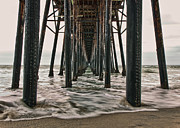 Under The Ocean Metal Prints - Under The Pier Metal Print by Eddie Yerkish