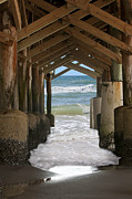Trussed Prints - Under the Pier Print by Harry Lamb