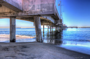 Beach Scenery Prints - Under The Pier Print by Heidi Smith