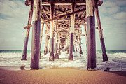 Ocean Photography Metal Prints - Under the Pier in Orange County California Picture Metal Print by Paul Velgos