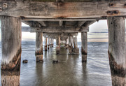 Shari Mattox Art - Under The Pier by Shari Mattox