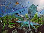 Sea Animals Art - Under the Sea by East Coast Barrier Islands Betsy A Cutler