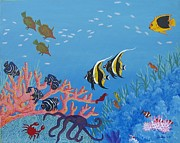 Lori Ziemba Framed Prints - Under the Sea Framed Print by Lori Ziemba