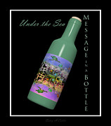 Fishes Digital Art - Under the Sea Message in a Bottle by East Coast Barrier Islands Betsy A Cutler