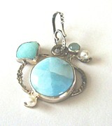 Hand Made Jewelry - Under the Sea Pendant by Beverly Fox