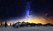 Mount Baker Framed Prints - Under the Stars Framed Print by Alexis Birkill