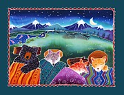 Coyote Art Paintings - Under the Stars by Harriet Peck Taylor
