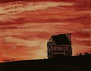 Old Barn Pastels - Under the Sunset by Constance Widen