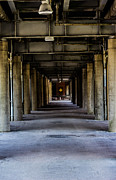 Fort Wayne Framed Prints - Under the Train Tracks Framed Print by Chris McCown