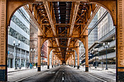 Verticle Prints - Under The Train Tracks Print by Mike Burgquist