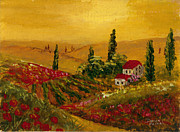 Red Roof Prints - Under the Tuscan Sun Print by Darice Machel McGuire