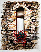 Italian Window Prints - Under the Tuscan Sun Print by Maria Barry