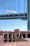 Iron Bridges Prints - Under the Verrazano  Print by JC Findley