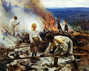 Burning Painting Posters - Under The Yoke Poster by Pg Reproductions