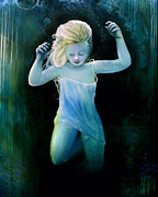 Nightgown Paintings - Under Water Love by Michael Parsons
