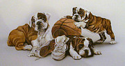 Basketball Paintings - Underdogs by Tim  Joyner