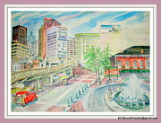 Underground Railroad Paintings - Underground Atlanta by Keith OBrien Simms