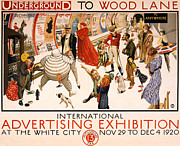 Underground To Wood Lane To Anywhere Print by Nomad Art And  Design