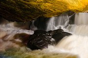 Pool In Cave Prints - Underground waterfall Print by Mark Papke