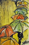 Umbrella Drawings Framed Prints - Underline Framed Print by Amanda  Sanford