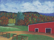 Farm Pastels - Undermountain Autumn by Anne Katzeff