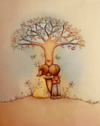 Underneath The Apple Tree Print by Karin Taylor