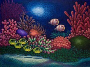 Fish Underwater Paintings - Undersea Creatures VI by Michael Frank