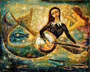 Spiritual Mixed Media Prints - UnderSea Print by Shijun Munns