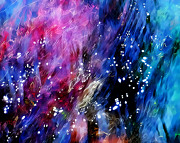 Water Flowing Prints - Underwater Galaxy Print by Terril Heilman