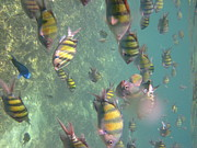Long Photo Prints - Underwater - Long Boat Tour - Phi Phi Island - 011327 Print by DC Photographer