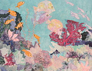 Scene Tapestries - Textiles Metal Prints - Underwater Splendor Metal Print by Denise Hoag