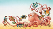 Water Drawings Prints - Underwater Story 05 Print by Kestutis Kasparavicius