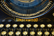 Antique Typewriter Posters - Underwood Typewriter Poster by Paul Ward